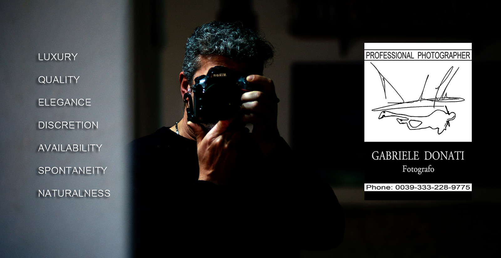 sito web del fotografo professionista Gabriele Donati di Siena.